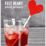 Felt Heart Drink Stirrers