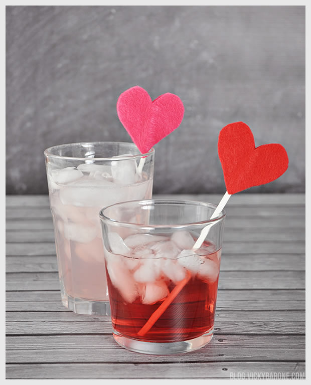 Felt Heart Drink Stirrers | Vicky Barone