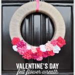 Valentine's Day Felt Flower Wreath