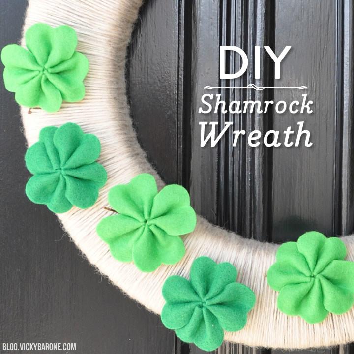DIY Shamrock Wreath | Vicky Barone