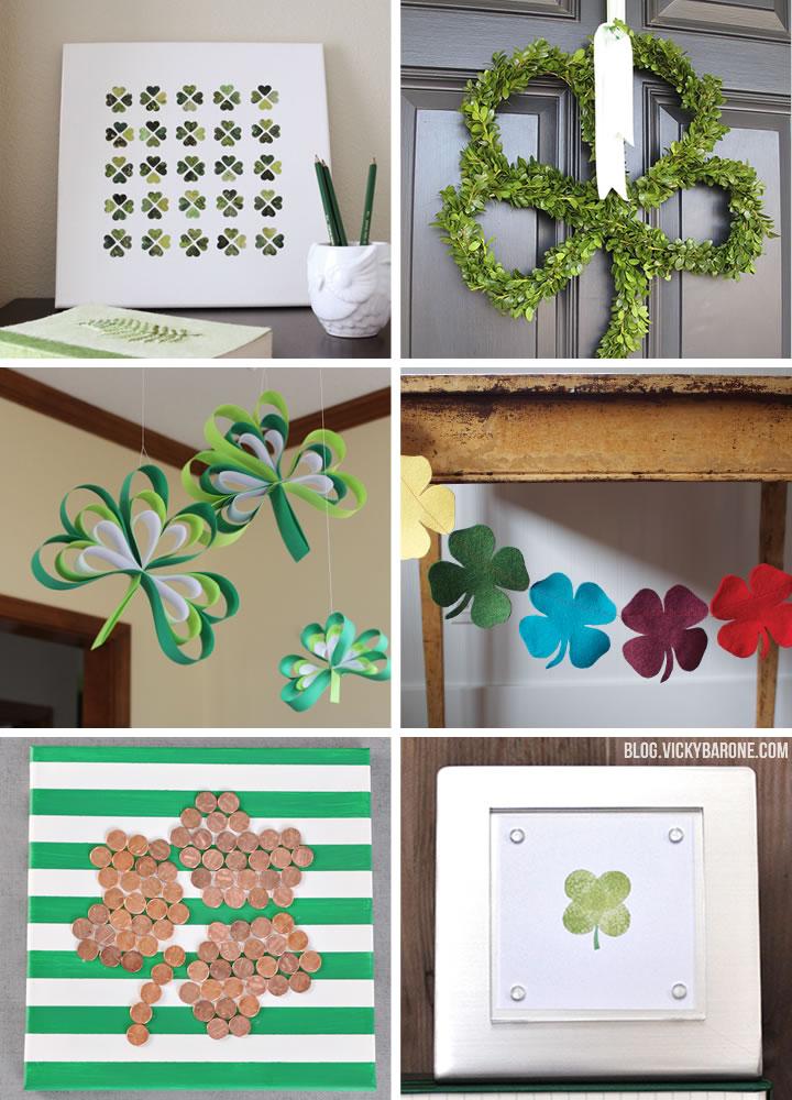 DIY Shamrock  Decor | St. Patrick's Day | Vicky Barone