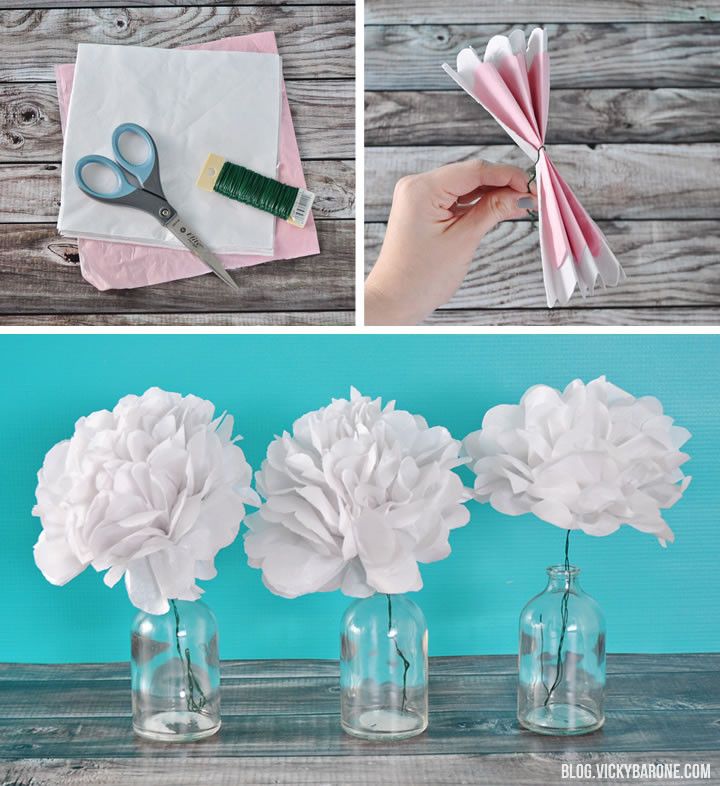 DIY Tissue Paper Flowers Vicky Barone