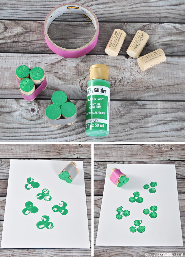 DIY Shamrock Cork Stamp | Vicky Barone