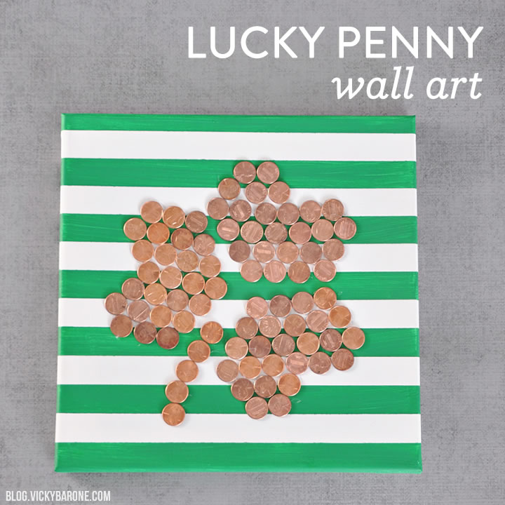 lucky penny wall art vicky barone