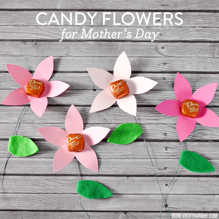 Candy Flowers for Mother's Day - Vicky Barone