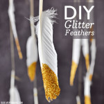DIY Glitter Feathers