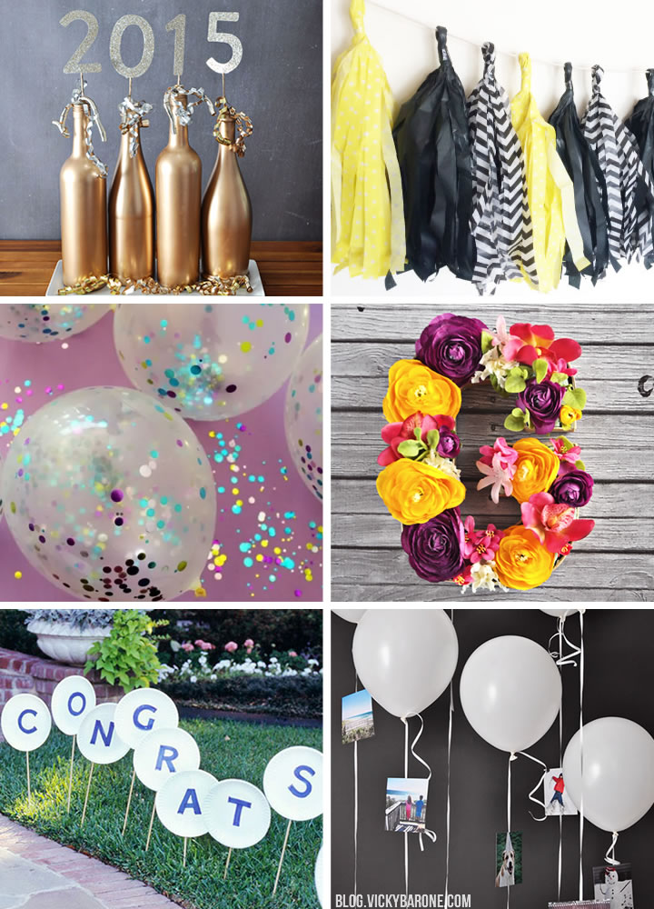 things i love graduation party diy decor ideas vicky barone - Graduation Party Decoration Ideas