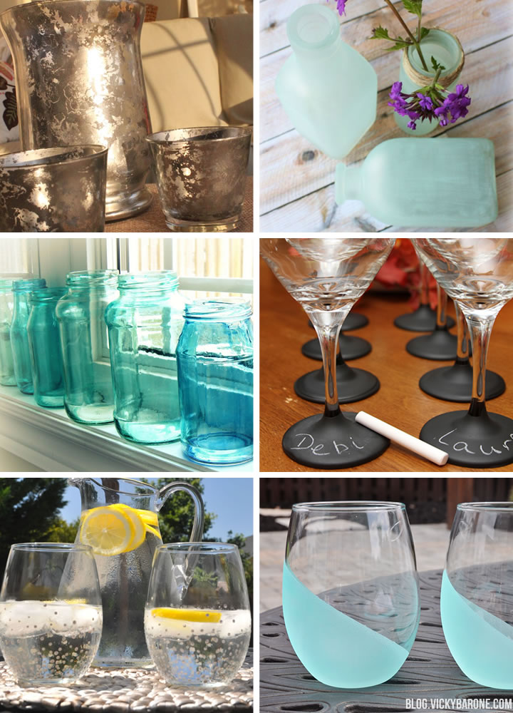 9 DIY Ideas for Painting Glass | Vicky Barone