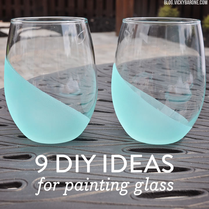 9 diy ideas for painting glass vicky barone