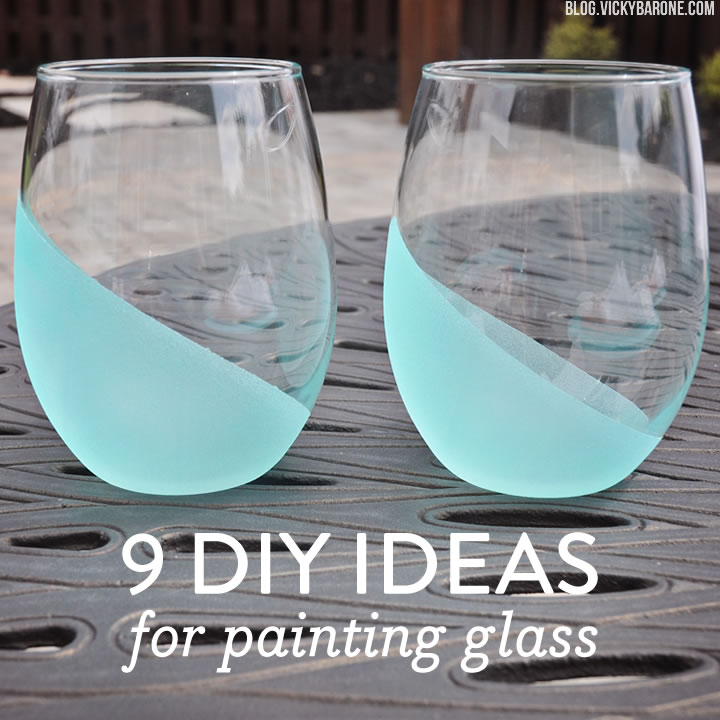 diy ideas for painting glass vicky barone. Black Bedroom Furniture Sets. Home Design Ideas