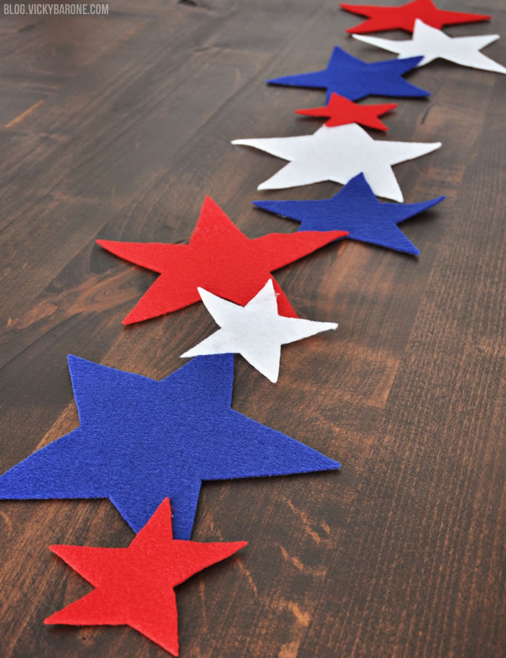 Red White and Blue Table Runner   Vicky Barone