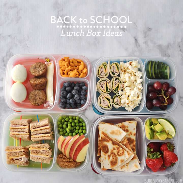 Back to school lunch box ideas vicky barone for Easy lunch ideas for kids at home