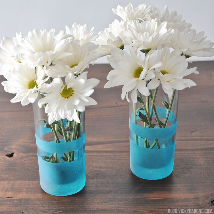 Diy Frosted Glass Vases Vicky Barone