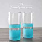 DIY Frosted Glass Vases