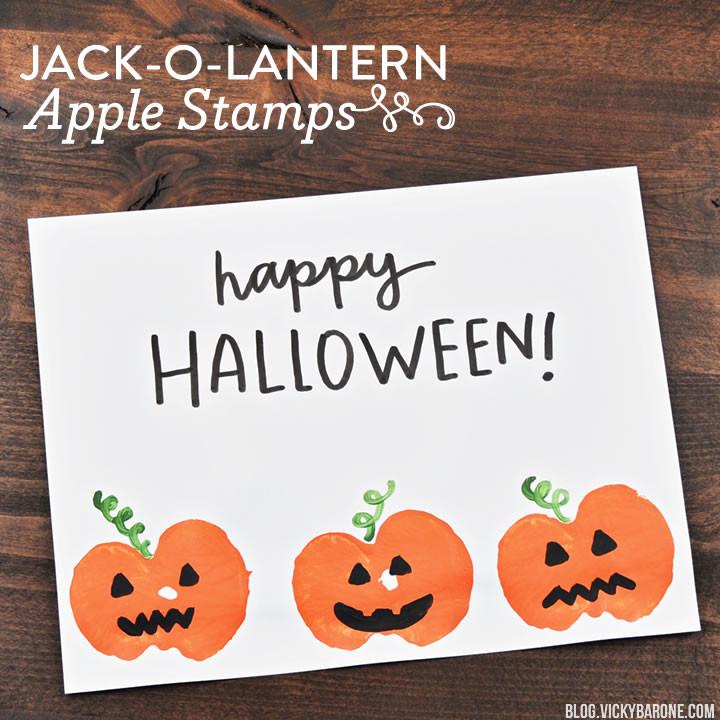Jack-o-Lantern Apple Stamps   Vicky Barone