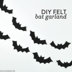 DIY No-Sew Felt Bat Garland