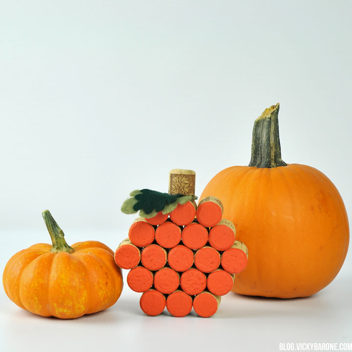 DIY Wine Cork Pumpkin | Vicky Barone