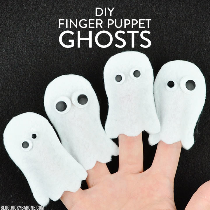 DIY Finger Puppet Ghosts | Vicky Barone