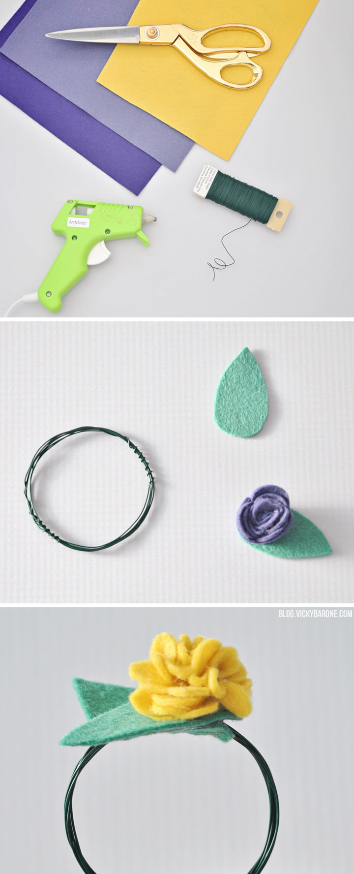 DIY Felt Flower Napkin Rings | Vicky Barone