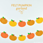 No-Sew Felt Pumpkin Garland