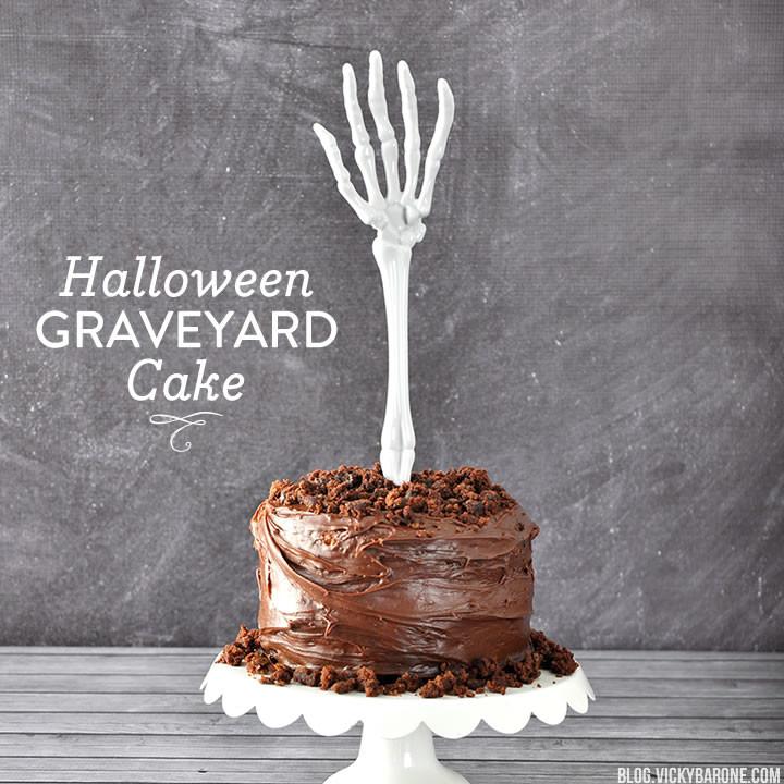 Halloween Graveyard Cake | Vicky Barone