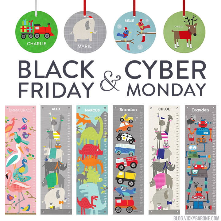 Black Friday & Cyber Monday Deals | Growth Charts | Christmas Ornaments | Vicky Barone