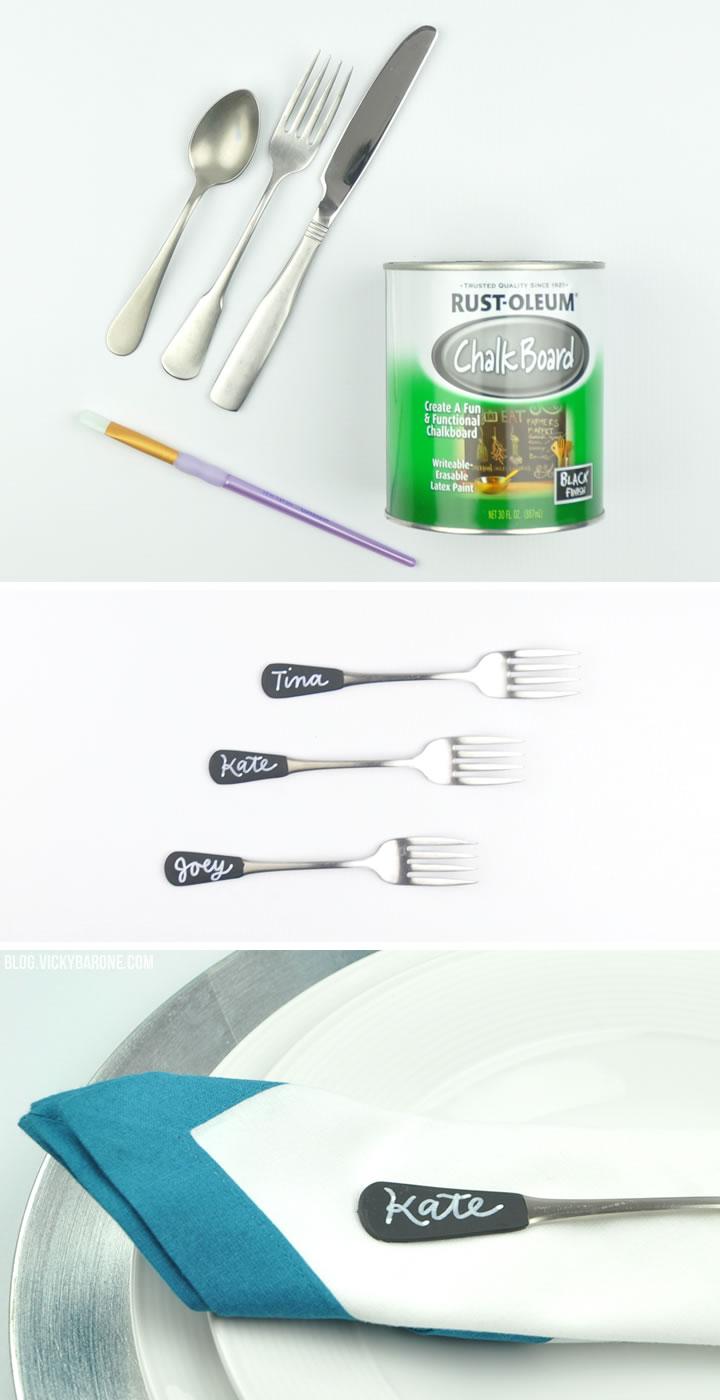 Chalkboard Silverware | Vicky Barone