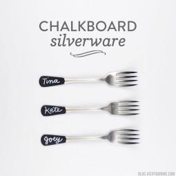 Chalkboard Silverware