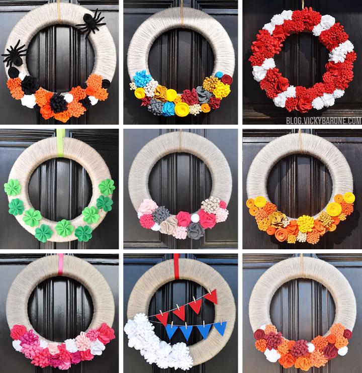 DIY Seasonal Wreath | Vicky Barone