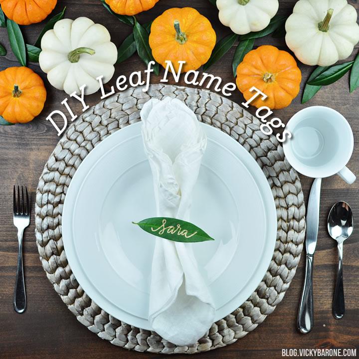 diy leaf name tags vicky barone