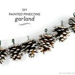 DIY Painted Pinecone Garland