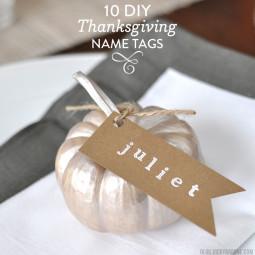 10 DIY Thanksgiving Name Tags
