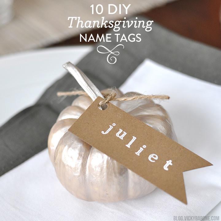 10 DIY Thanksgiving Name Tags | Vicky Barone