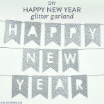 DIY Happy New Year Glitter Garland