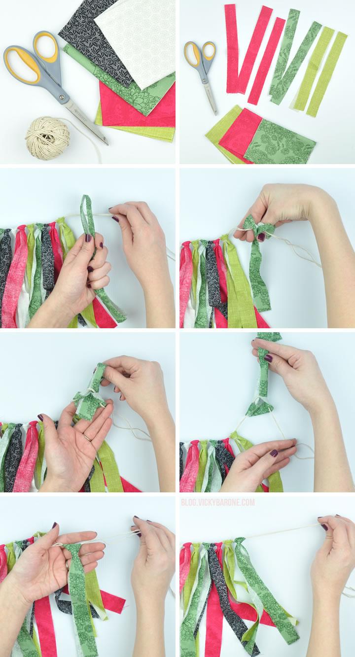 DIY Fabric Scrap Garland   Vicky Barone
