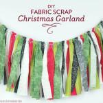 DIY Fabric Scrap Christmas Garland