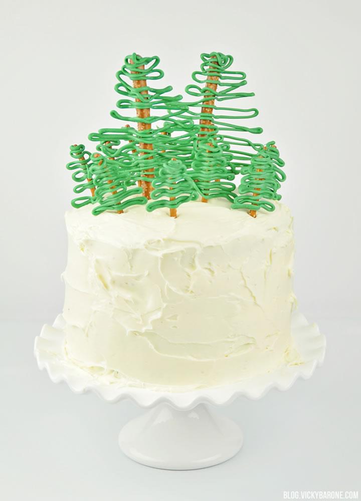 Christmas Tree Farm Cake | Vicky Barone