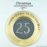 DIY Christmas Countdown Plate