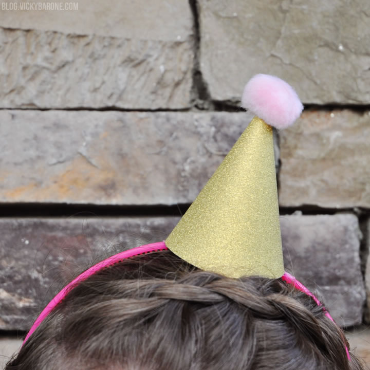 DIY Mini Party Hat Headbands - Vicky Barone