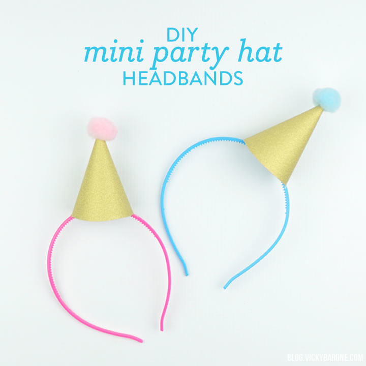 DIY for your New Year's Eve party! These glittery mini party hats ...