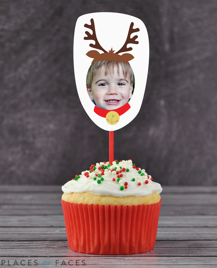 Personalize Your Christmas with Places for Faces | Vicky Barone | custom cupcake toppers