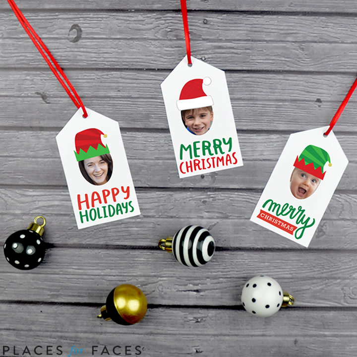 Personalize Your Christmas with Places for Faces | Vicky Barone | custom gift tags
