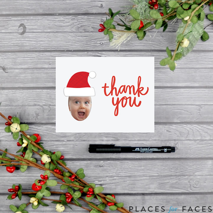 Personalize Your Christmas with Places for Faces | Vicky Barone | custom printable thank you notes