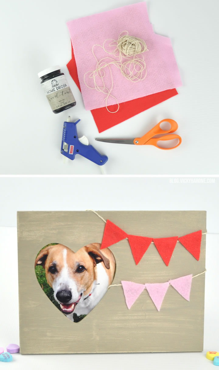 DIY Valentine's Day Frame | Vicky Barone