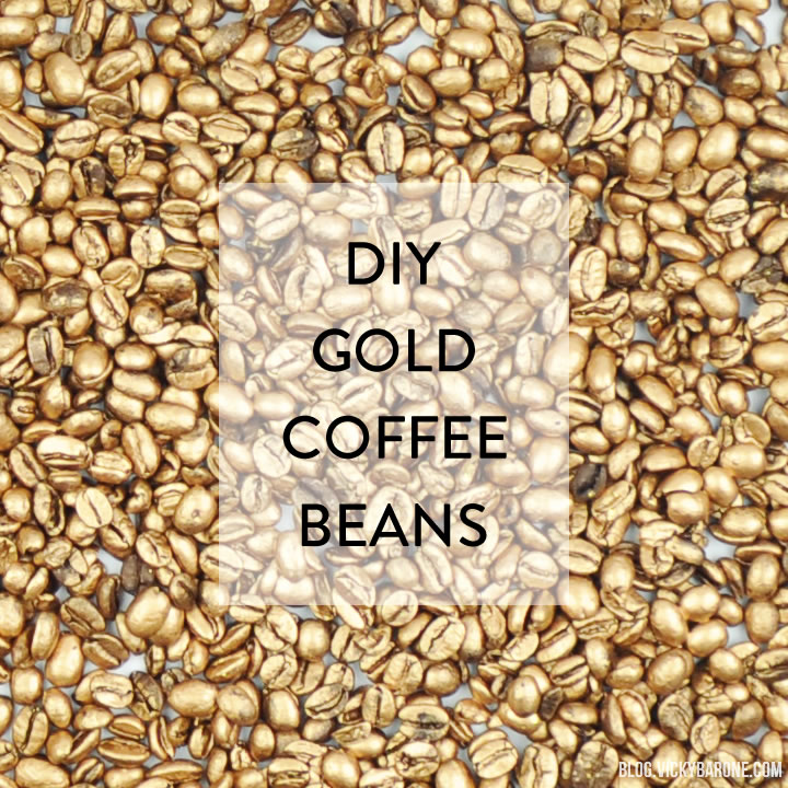Diy Gold Coffee Beans Vicky Barone