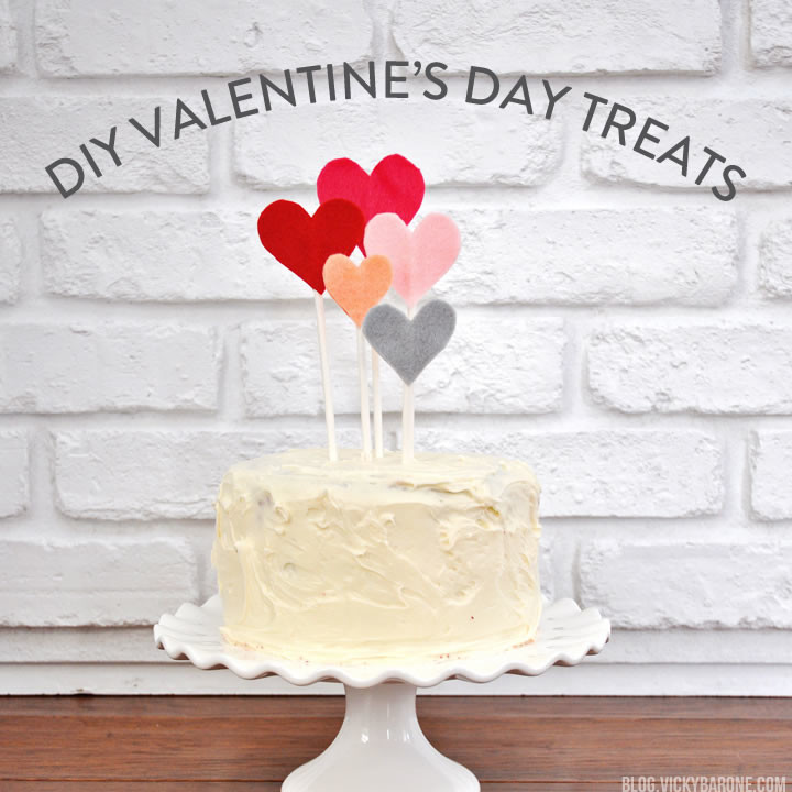 Valentine's Day Round Up | Treats, desserts, and custom cupcake toppers | Vicky Barone