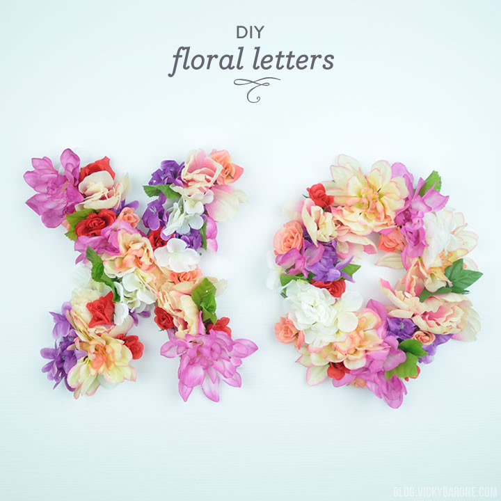 DIY Floral Letters | Vicky Barone
