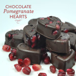 Dark Chocolate Pomegranate Hearts
