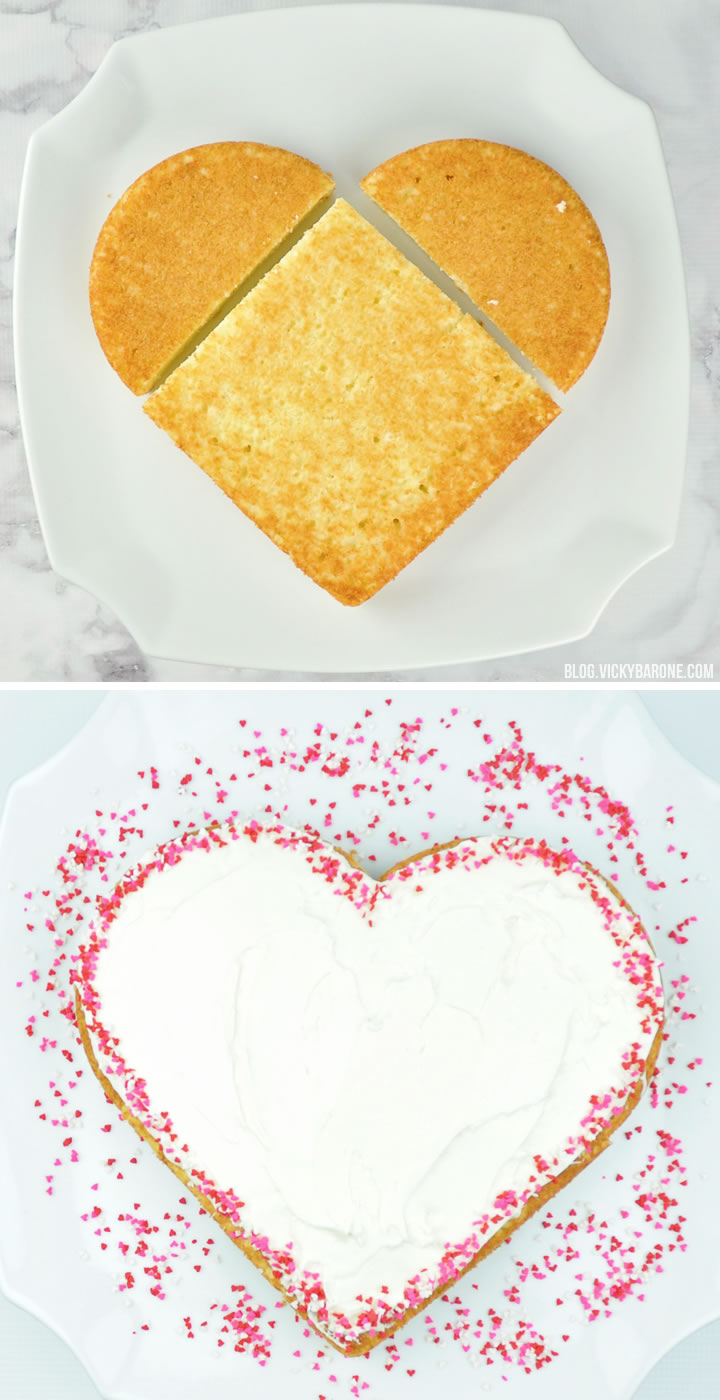 Heart-Shaped Cake for Valentine\'s Day - Vicky Barone