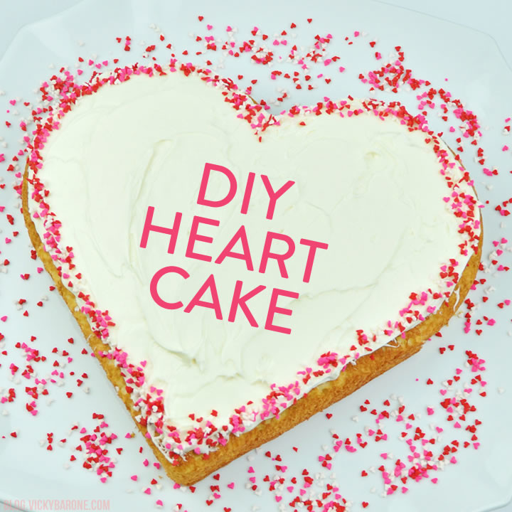 Heart-Shaped Cake for Valentine s Day - Vicky Barone